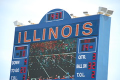 the board that displays the score (Johnny Heger) Tags: college campus illinois spring universityofillinois urbana champaign uofi chipsi