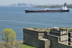 America's Spirit (_Robert C_) Tags: nyc ny skyline brooklyn harbor ship fort manhattan sigma vessel statenisland d300 thenarrows 2470mm fortwadsworth batteryweed americasspirit topazadjust robertcatalano