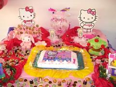 Bolo do 1 aniv de Sabrina 26.09.2009 (Ciane Home & Kids by Savanna) Tags: flores cores keks hellokitty fantasia bolo festa aniversrio menino indio kuchen crianca