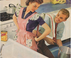 Apron wife (Nava Atlas) Tags: vintage fifties husband retro housewives housework 1940s 1950s wife 50s housewife forties 40s genderrole