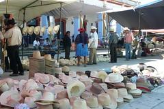 Mercado de Viernes, Ocotln, Oaxaca. (Don Timn) Tags: people hat shopping mexico market hats stall clothes mexican mercado oaxaca mexicans ocotlan sombreros marketstall campesinos ocotln estadodeoaxaca oaxcacacity mercadodeviernes