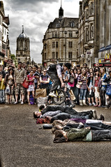 Oxford Street Performers (Max-Design) Tags: street max ross jump performance oxford buskers unicycle performers hdr photomatrix maxross