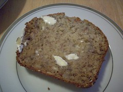 Almond Banana Bread w/ Butter