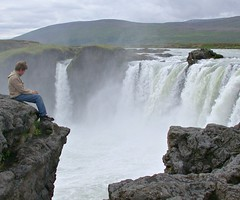 Contemplating at Godafoss, Iceland (ystenes) Tags: boy waterfall iceland 1001nights foss myvatn sland contemplation godafoss platinumheartaward flickrestrellas thebestofday gnneniyisi mygearandme