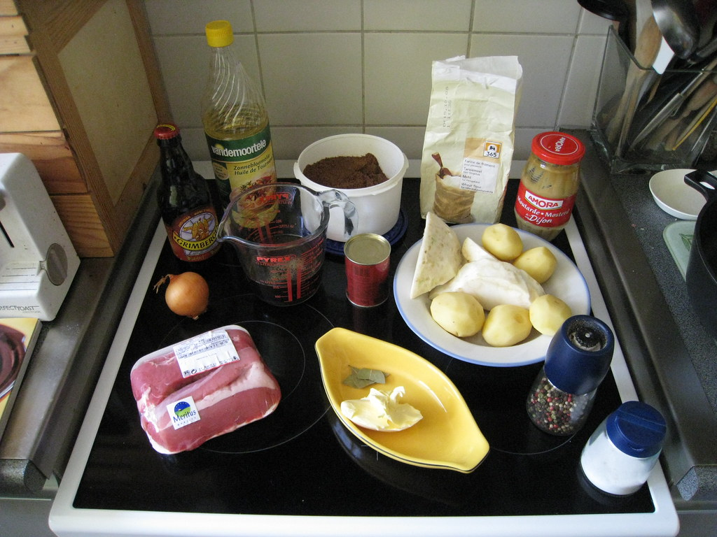 Ingredients for British Beef Stew