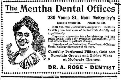 Vintage Ad #814: The Mentha Dental Lady Still Smiles