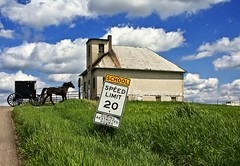 School Days (teacherholly) Tags: road blue school ohio sky horse grass sign clouds country amish buggy schoolzone oneroomschoolhouse amishcountry holmescounty aplusphoto savebeautifulearth