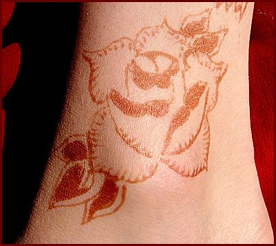 original ankle henna tattoo pattern