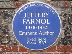 Photo of Jeffery Farnol blue plaque