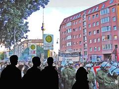 Antinationale Parade on Rosa-Luxemburg-Platz ►...