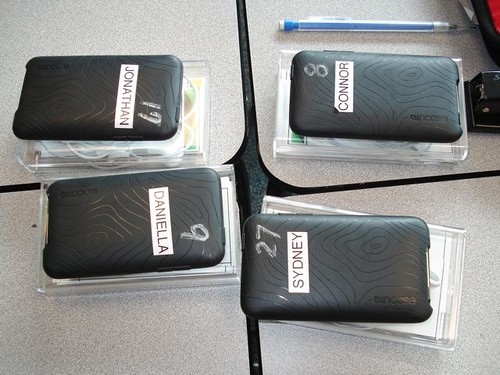 iPods on student desks