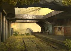 Abandoned Metro in Secret Files 2 (Reid Harris Cooper) Tags: paris france abandoned graffiti pc screenshot metro adventure computergame secretfiles adventuregame deepsilver secretfiles2