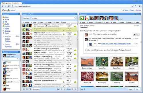 Google_Wave_snapshots_inbox (by tenz1225)