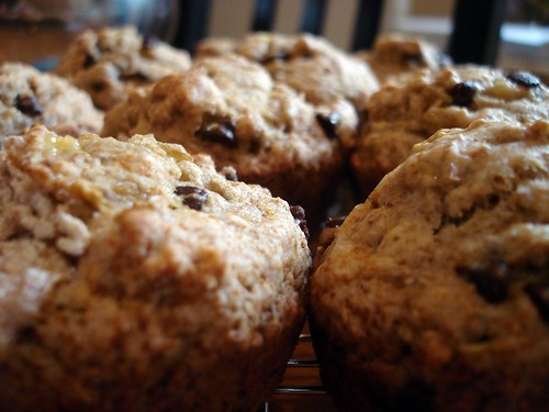 Banana Chocolate Chip Muffins (Vegan)