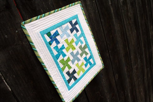 Mini Quilt on Fence 1