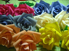 Two dozen spring colored roses