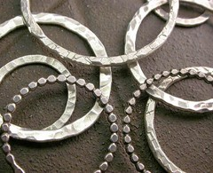 hammered jewelry hoops links forged textured findings... (Photo: Simply_Adorning on Flickr)