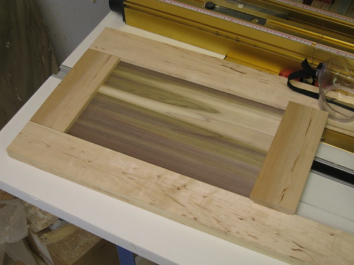 test panel layout in cabinet door