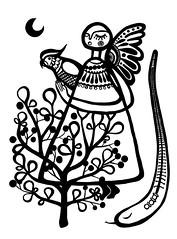 come ride with me #1 (* Little Circus Design *) Tags: tattoo illustration skulls skeleton pattern decorative australiana floralpattern brushandink thedayofthedead birdimages brushink melbourneart australianart contemporaryillustration blackandwhiteimages thejackywintergroup monochromaticcolour littlecircusdesign madeleinestamer littlebirdsville limitededitiongicleeprints australianillustration contemporaryfolkstyle