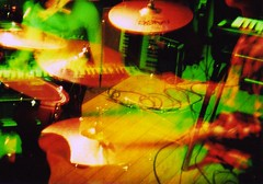 drums,keys (y k m t) Tags: doubleexposure colorsplashflash holga135