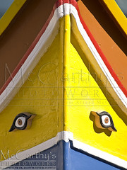 Malta Dghajsa (McCarthy's PhotoWorks) Tags: travel vacation abstract color colour eye contrast boat fishing colorful mediterranean folk background traditional evil folklore malta maritime destination backdrop colourful tradition med gettyimagesmalta1