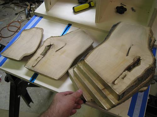 Pittosporum log slabs