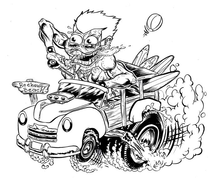 rat fink coloring pages - photo#3