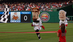 Abe Lincoln wins the Washington Nationals presidents race.