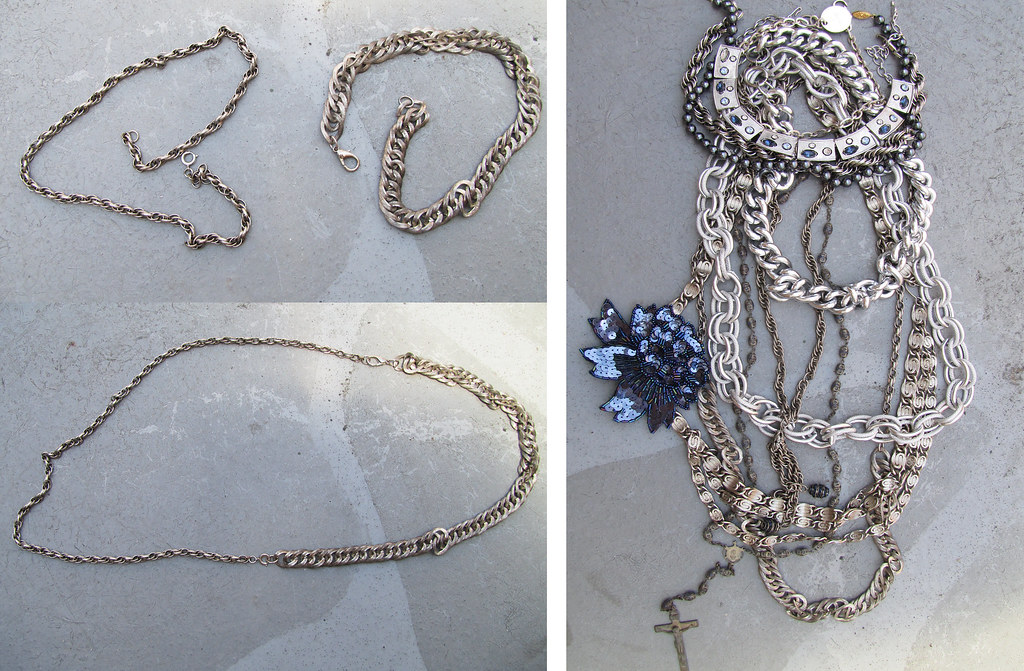 silver-layered-chain-necklaces-blue-gucci-vintage-1