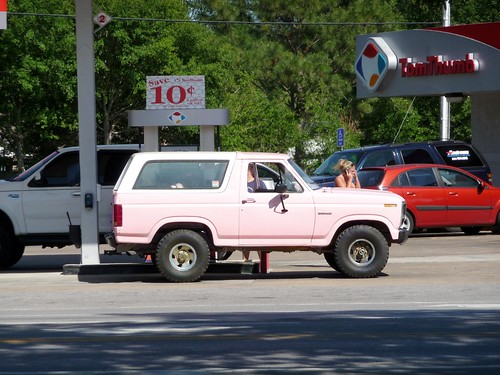 Pink Bronco at the Tom Thumb