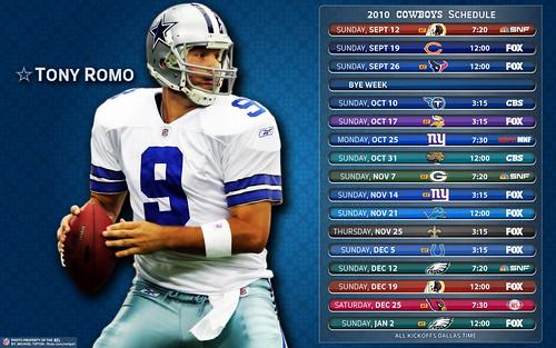 2010 Dallas Cowboys Schedule