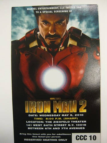 iron man 2 screening ticket