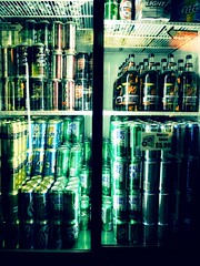 365/131: Beer (riekhavoc) Tags: beer bottle can case 365 refrigerator budweiser coors rollingrock project365 project365131