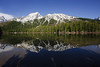 Reflection on String Lake (bhophotos) Tags: travel blue trees usa lake snow mountains reflection green nature water landscape geotagged spring nikon day clear wyoming tetons grandtetonnationalpark stringlake d700 1424mmf28g projectweather bruceoakley