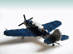 SB2C Helldiver (3) (Mad physicist) Tags: lego aircraft wwii ww2 usnavy helldiver