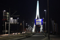 Night Rotterdam (sebastien banuls) Tags: voyage travel netherlands night photography rotterdam photographie nederland  kopvanzuid paysbas pases euromast erasmusbrug niederlande  hollande hollandia paesi bajos bassi  holandia baixos nederlnderna  alankomaat