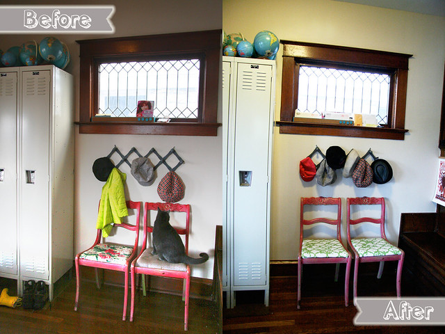 Before and After: Entryway Chairs