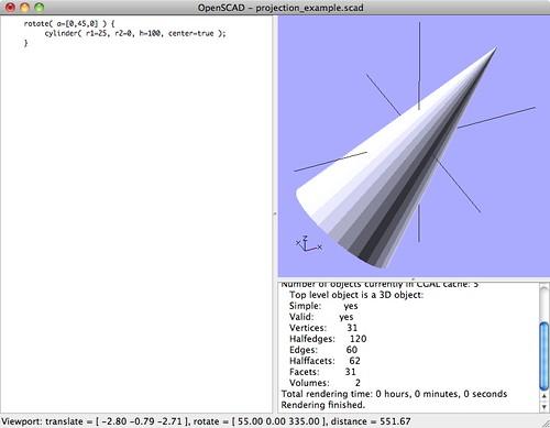 2D Projections In OpenSCAD – BlogSplat