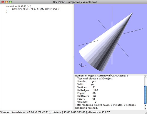 3D Cone Diagonal