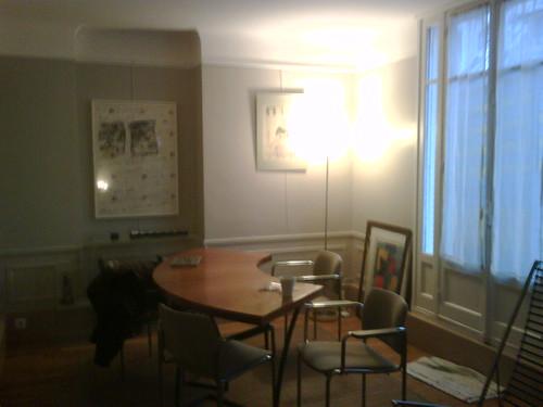 dining room of unit 5f, villa guelma, paris