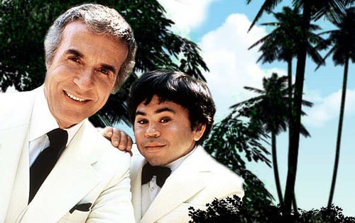 "Ricardo Montalban and Herve Villechaize on ""Fantasy Island"""