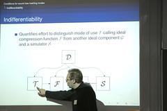 Joan Daemen's lecture (janhuehne) Tags: symmetric cryptography