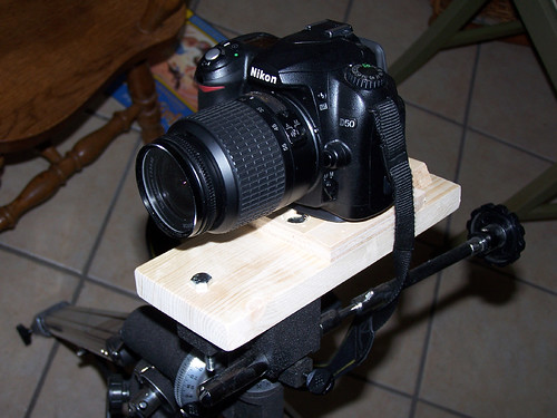 My camera mounted using the new adapter