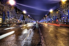 The Parisian boulevard where I should not have been standing (Stuck in Customs) Tags: street blue wallpaper sky panorama paris france texture love colors beautiful lines les night reflections painting de french photography lights la amazing cool nikon perfect exposure shoot mood boulevard photographer photographie shot traffic angle image dusk details d2x perspective champs picture atmosphere busy amour edge stunning pro nightlife top100 portfolio lovely capture emotions tones magical nuit rues franais hdr lumires lyses sont champslyses magnifiques stuckincustoms treyratcliff