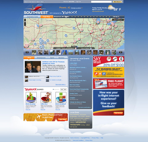 The new Southwest wifi homepage by Yodel Anecdotal.