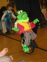 frog on a unicycle (GinaMK) Tags: marionette