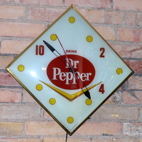 Dr. Pepper Clock by LauraMoncur from Flickr
