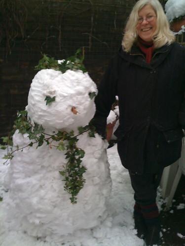 Snowman and creator
