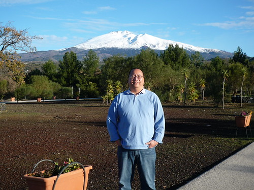 In Sicily w/ Mt. Etna in the Background