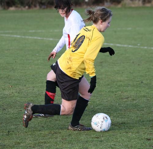 Womens Football v Northumbria, 11-02-09, Photo: Justyn Hardcastle